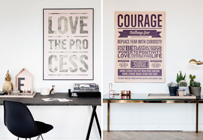 Posters Courage Love the Process